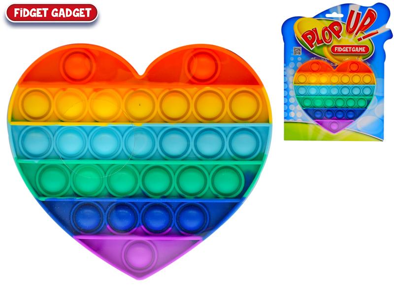 Plop up gra tęczowe serce 13,5x15cm na blistrze