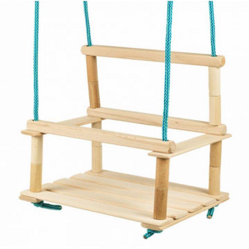 Hojdačka drevená menšie