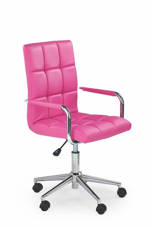 Dětská otočná židle Halmar GONZO 2 růžová