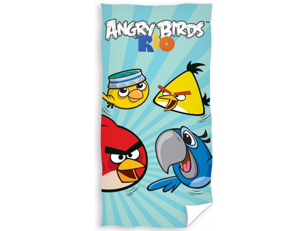 Carbotex osuška Angry Birds Rio blue