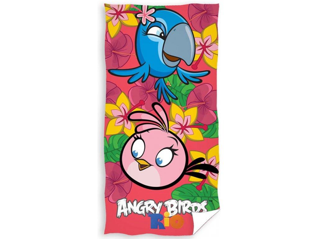 Carbotex osuška Angry Birds Rio ružová