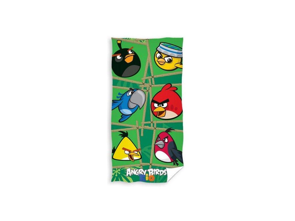 Carbotex osuška Angry Birds Rio zelená