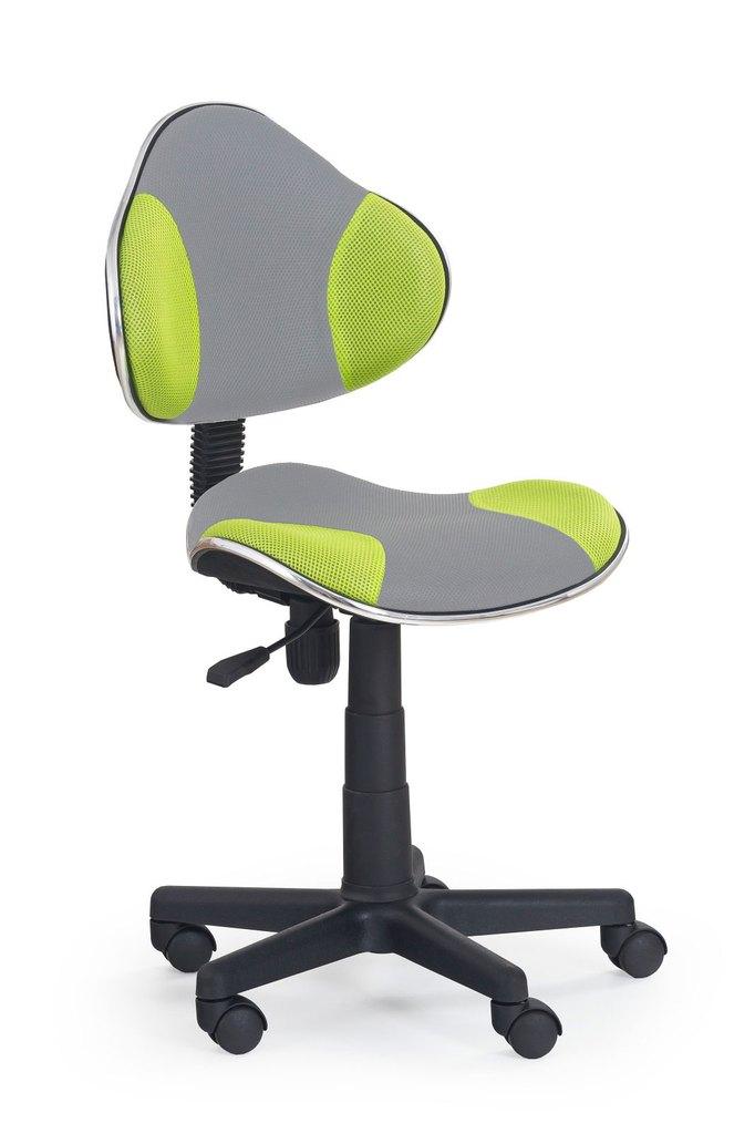 Detská otočná stolička Halmar FLASH 2 zelená-šedá