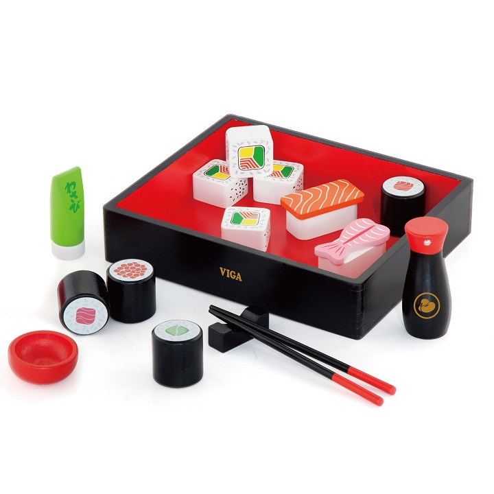 Drewniane sushi