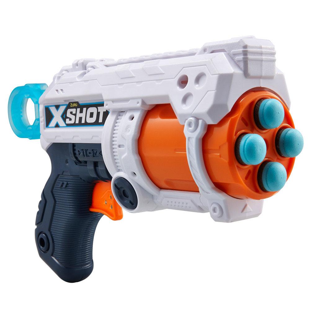 X-SHOT EXCEL Fury 4 z obrotową lufą i 16 nabojami