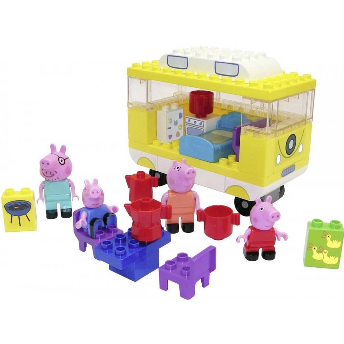 PlayBig BLOXX przyczepa Peppa Pig z akcesoriami