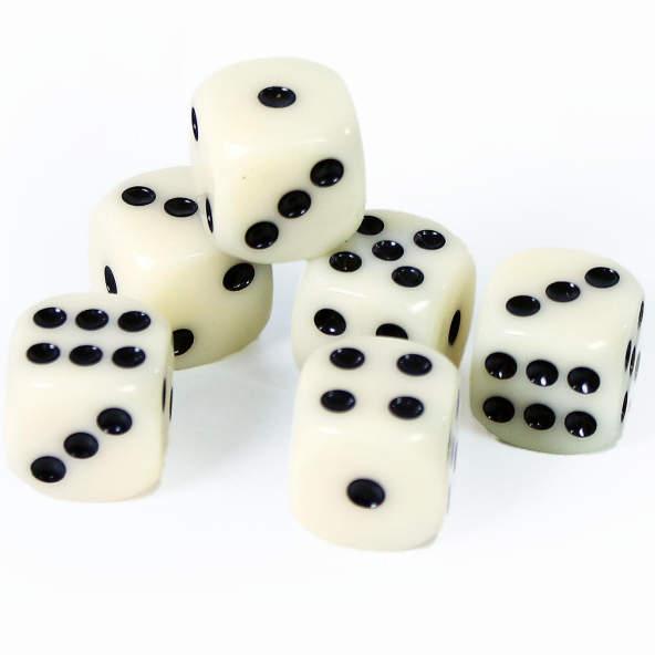 Kostki białe 6 szt