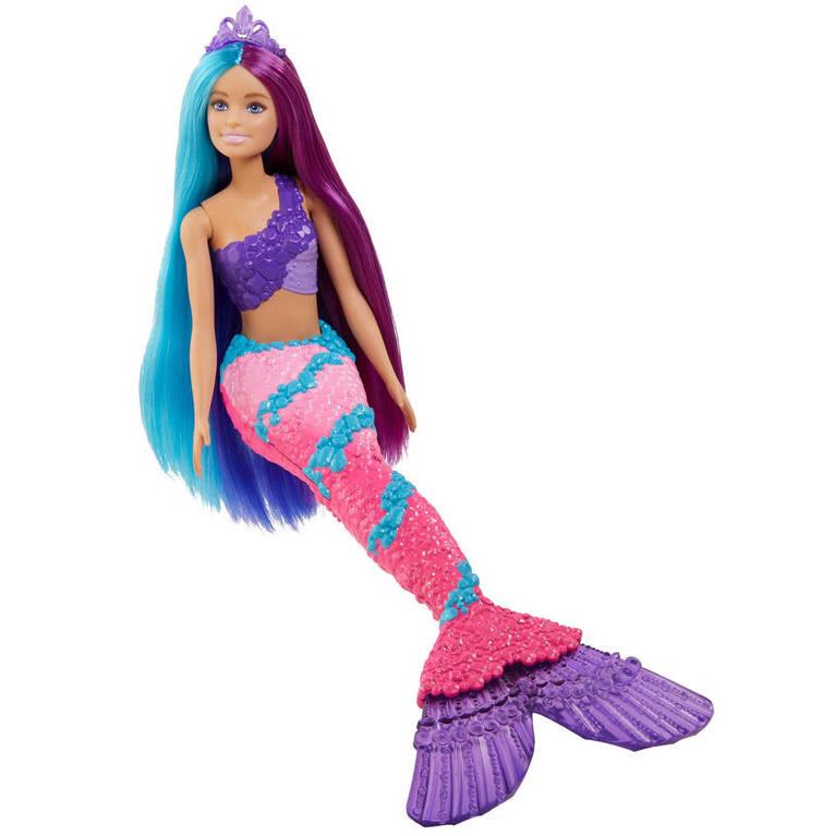 Barbie Dreamtopia - Lalka Syrenka z Długimi Włosami GTF39