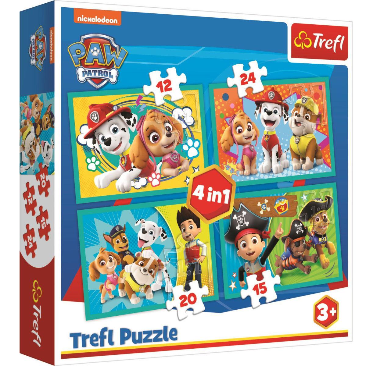 Puzzle Happy Team Paw Patrol 4w1