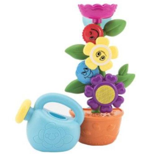 Młynek do kąpieli kwiat plastikowy 24cm do przyssawek z imbrykiem w pudełku