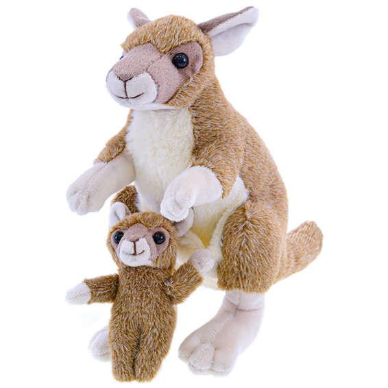 Pluszowy kangur z dzieckiem 22 cm 0m+ w torbie