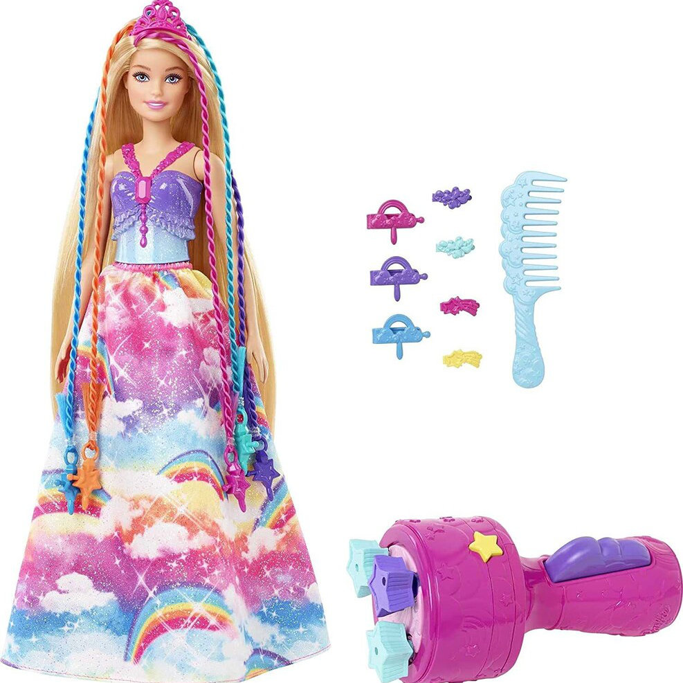 Barbie Princezná s farebnými vlasmi herné set