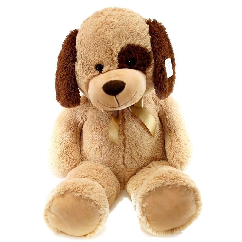 Plyš Pes béžový 90 cm