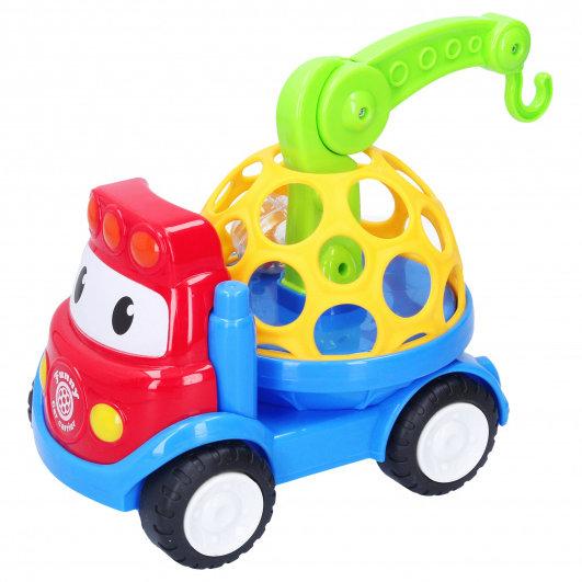 Hrkálka Auto so žeriavom 18 cm