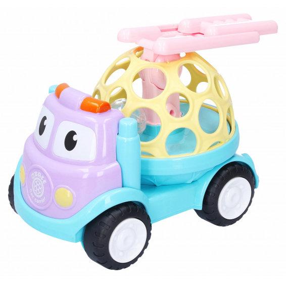 Hrkálka Auto s rebríkom 18 cm