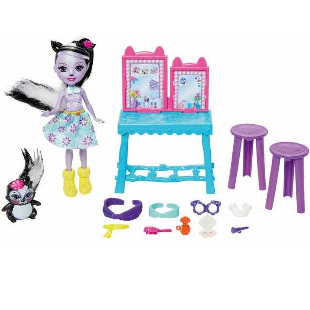 Hracia sada Enchantimals kozmetický stolík s bábikou