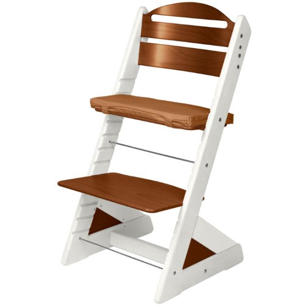 Dětská rostoucí židle JITRO PLUS  bílo - ořechová