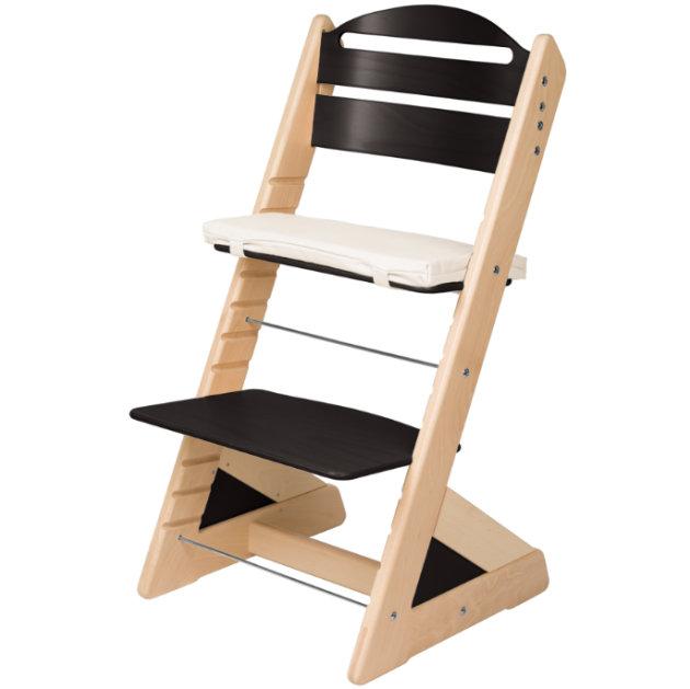 Dětská rostoucí židle JITRO PLUS bukovo - černá