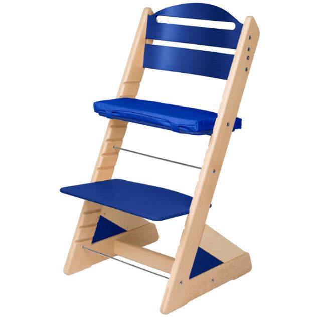 Dětská rostoucí židle JITRO PLUS bukovo - modrá