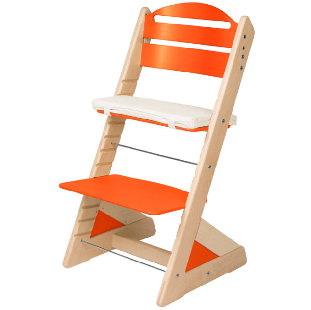 Dětská rostoucí židle JITRO PLUS bukovo - oranžová