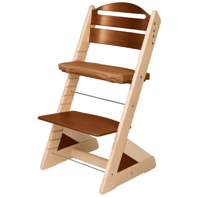 Dětská rostoucí židle JITRO PLUS bukovo  - ořechová
