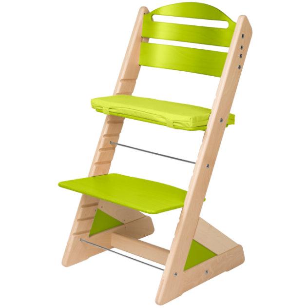 Dětská rostoucí židle JITRO PLUS bukovo - světle zelená