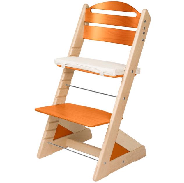 Dětská rostoucí židle JITRO PLUS bukovo - třešňová