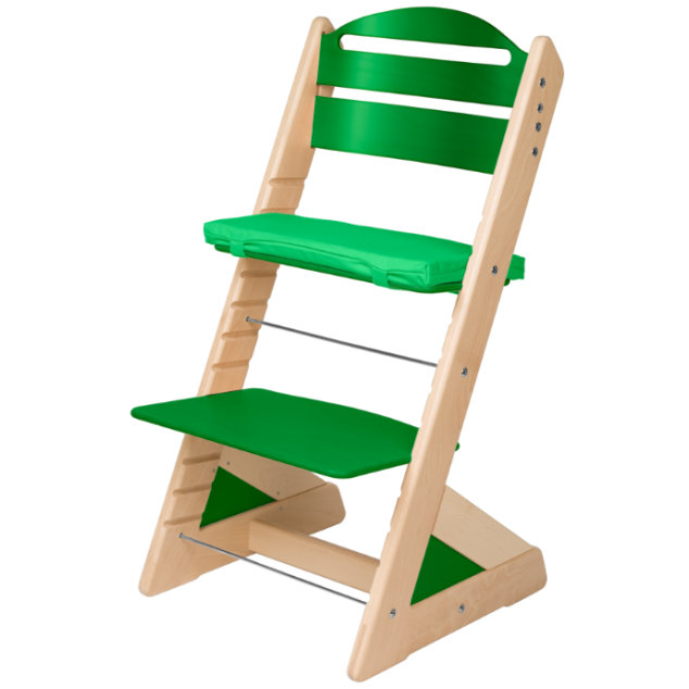 Dětská rostoucí židle JITRO PLUS bukovo - zelená
