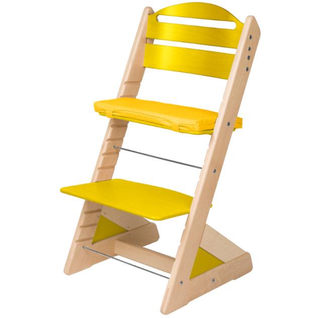 Dětská rostoucí židle JITRO PLUS bukovo - žlutá
