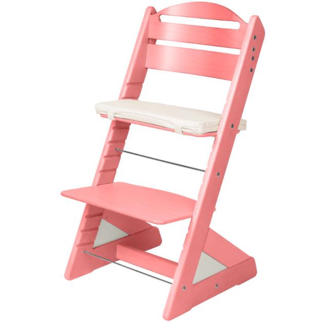Dětská rostoucí židle JITRO PLUS růžová