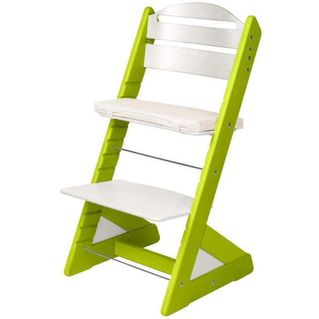 Dětská rostoucí židle JITRO PLUS světle zeleno - bílá