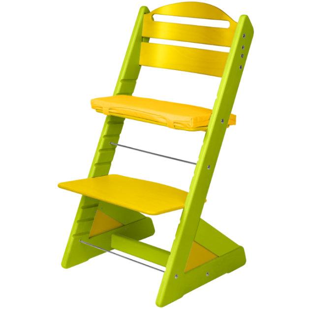 Dětská rostoucí židle JITRO PLUS světle zeleno - žlutá