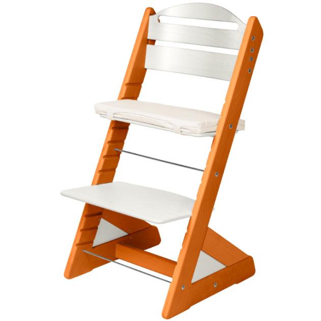 Dětská rostoucí židle JITRO PLUS třešňovo - bílá