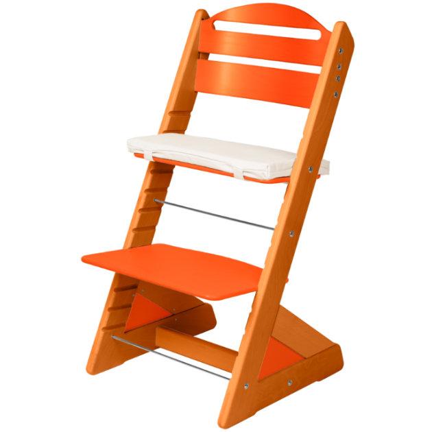 Dětská rostoucí židle JITRO PLUS třešňovo - oranžová