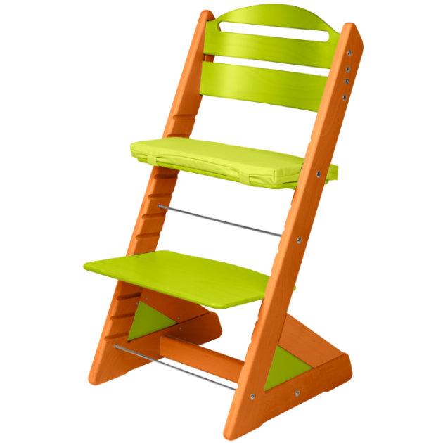 Dětská rostoucí židle JITRO PLUS třešňovo - světle zelená