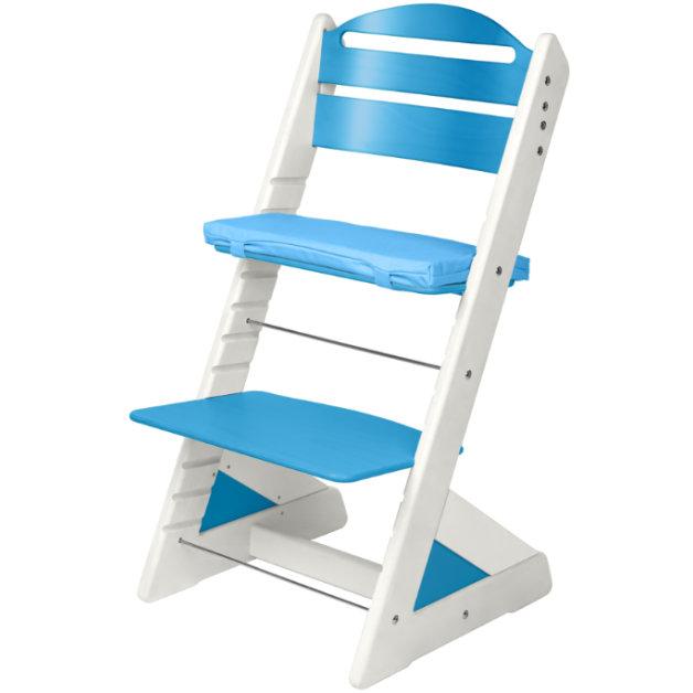 Dětská rostoucí židle JITRO PLUS bílo - světle modrá