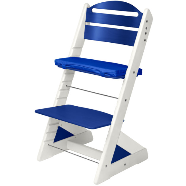 Dětská rostoucí židle JITRO PLUS bílo - modrá