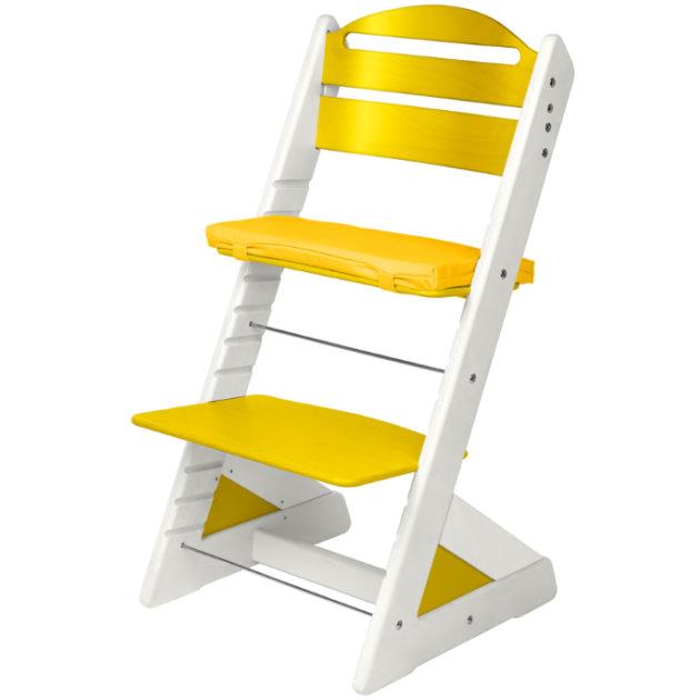 Dětská rostoucí židle JITRO PLUS bílo - žlutá