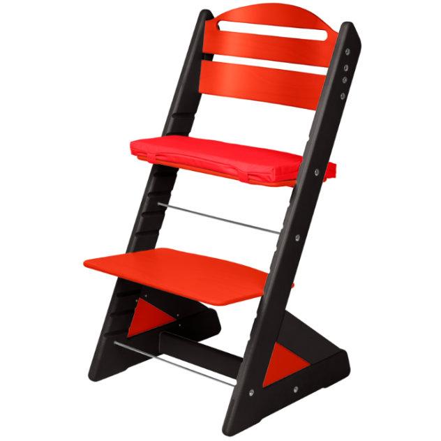 Dětská rostoucí židle JITRO PLUS černo - červená