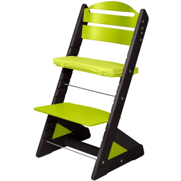 Dětská rostoucí židle JITRO PLUS černo - světle zelená