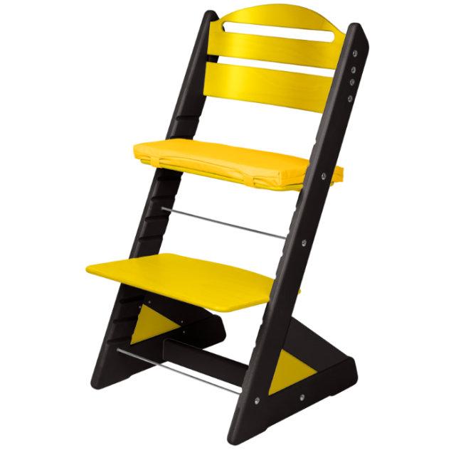 Dětská rostoucí židle JITRO PLUS černo - žlutá