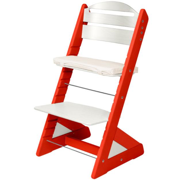 Dětská rostoucí židle JITRO PLUS červeno - bílá