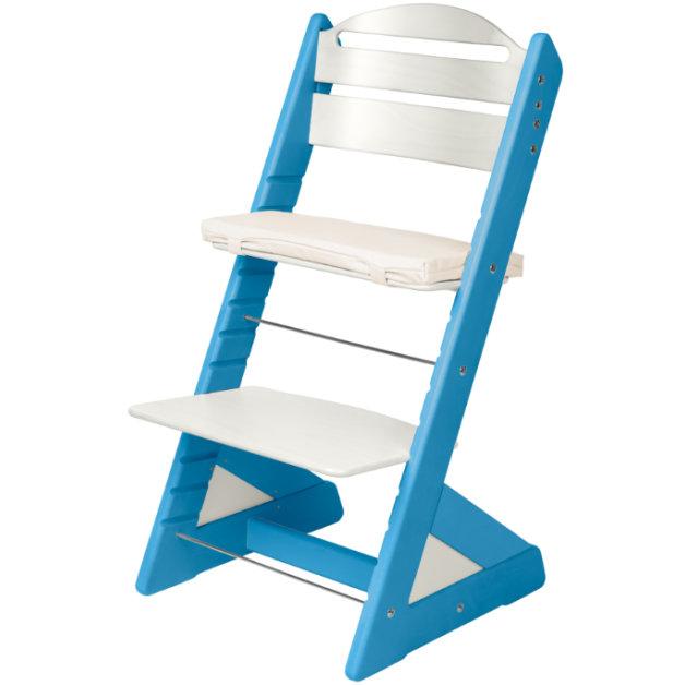 Dětská rostoucí židle JITRO PLUS světle modro - bílá