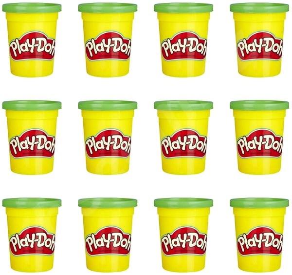 Play-Doh Balení 12 ks kelímků zelená