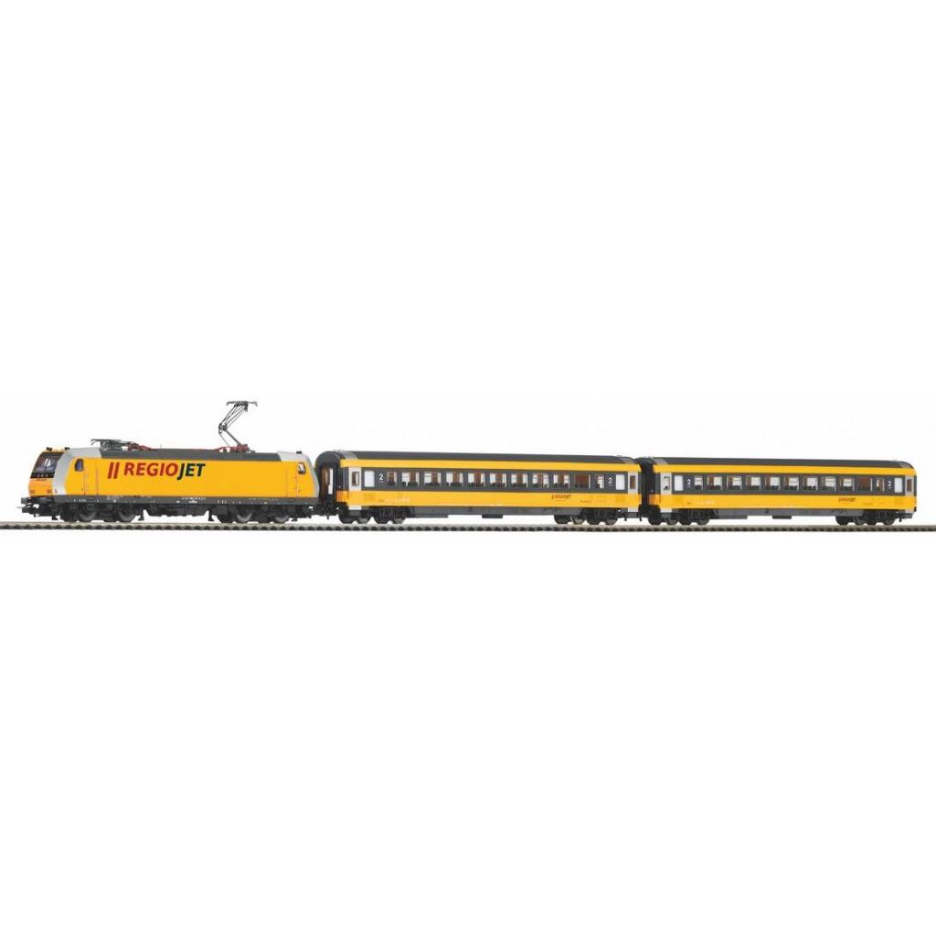 Piko Startovací sada Osobní vlak s elektrickou lokomotivou Regiojet - 59021