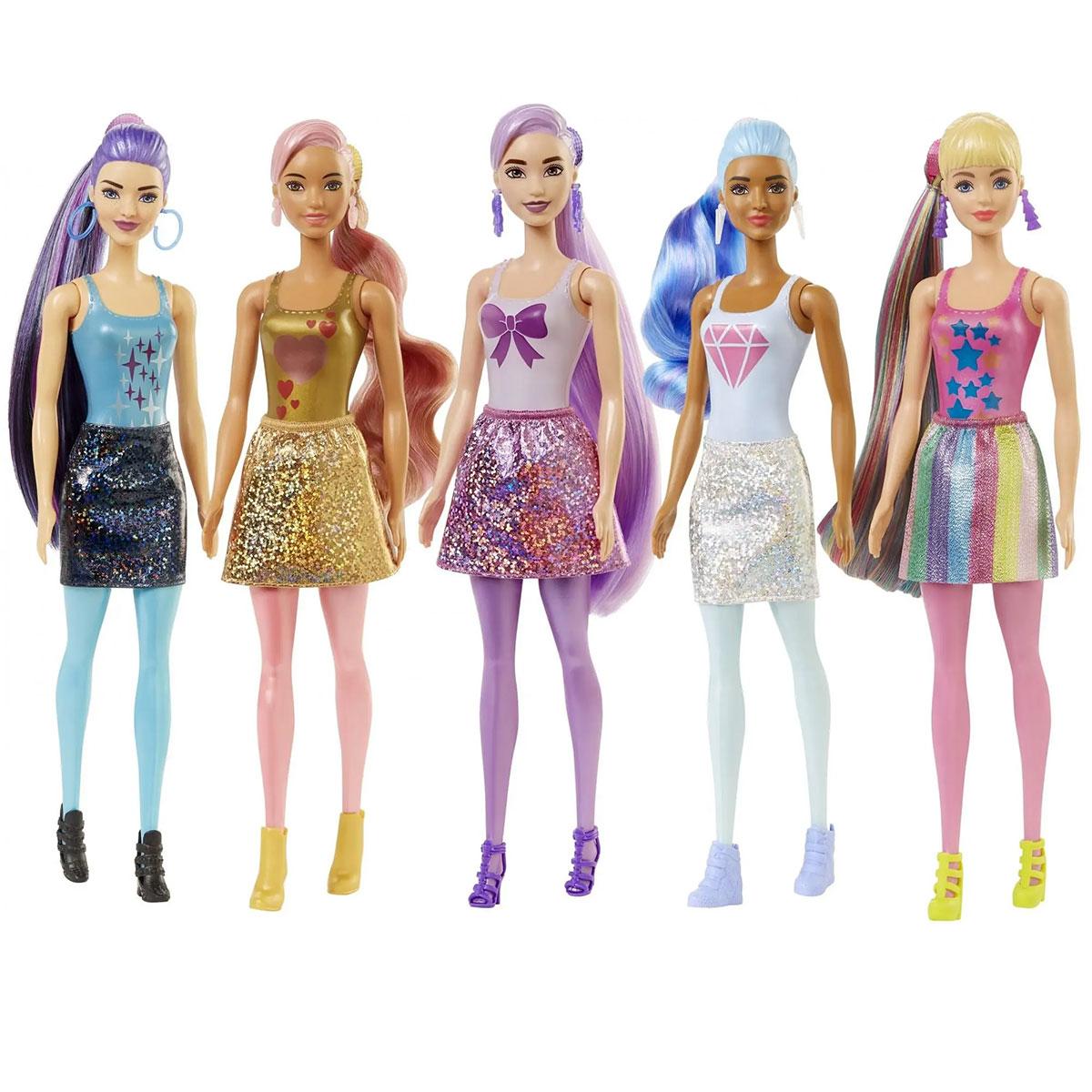 Brokatowa Lalka Barbie Tuba Niespodzianka Color Reveal