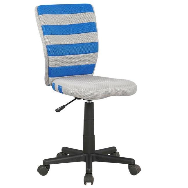 Halmar Dětská otočná židle FUEGO modrá-šedá