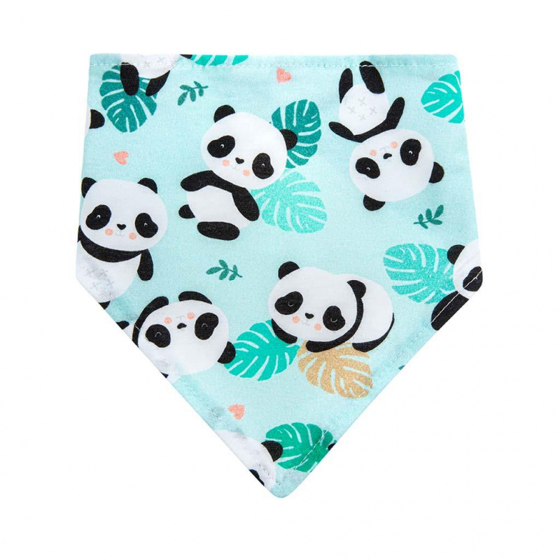 Dojčenský šatka na krk podbradník Akuku Pandy