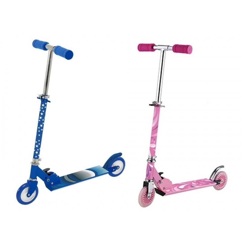 Dětská koloběžka - růžová / modrá