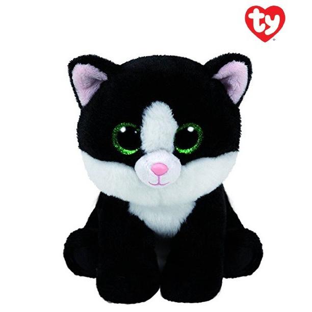 Beanie Boos plyšová kočička černo/bílá 24 cm